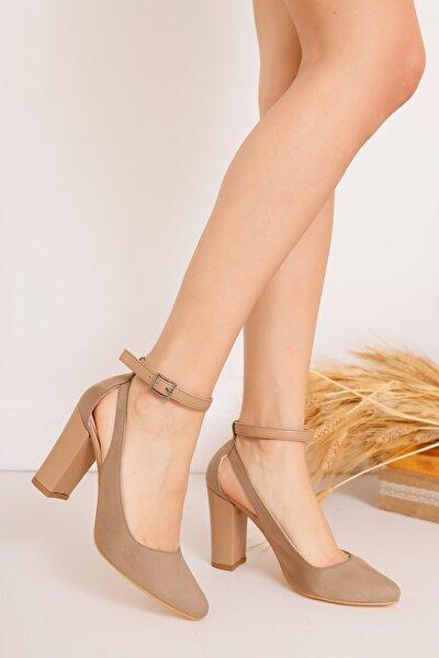 Kadın Vizon Lillian Topuklu Süet Ayakkabı