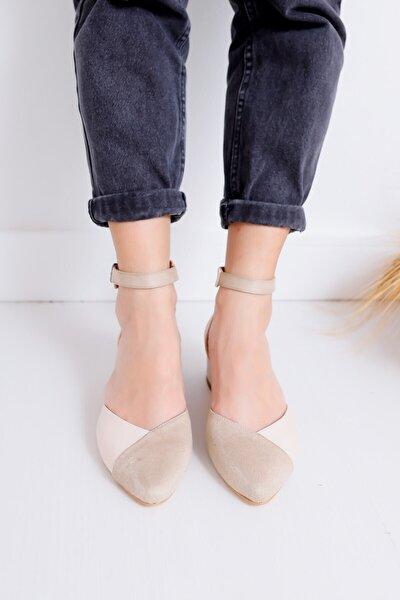 Kadın Ten Topuklu Ayakkabı