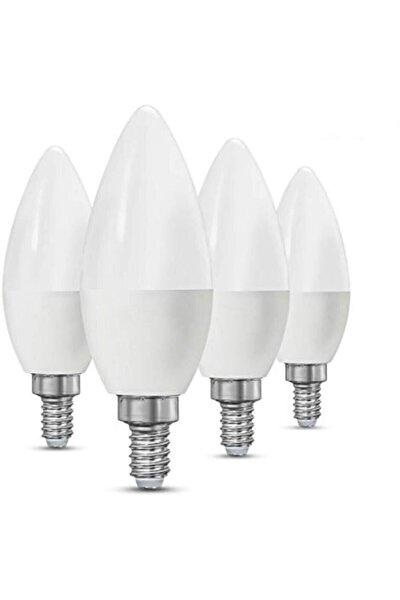 Mb Beyaz Işıklı 10 Adet Mum Buji Ampul Avize Abajur Lambası Ince Duylu Lamba