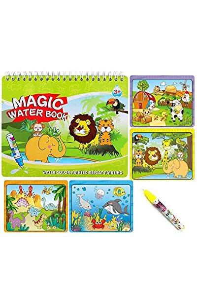 Sihirli Boyama Kitabı Sulu Boya Hayvanlar Eğitici Boyama Kitabı
