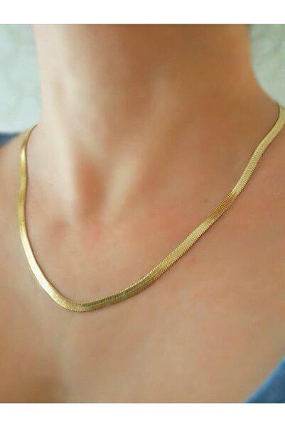 Kadın Altın Çelik Italyan Zincir Kolye