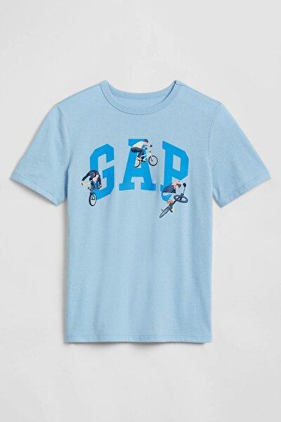 Erkek Çocuk Grafik Desenli Kısa Kollu T-Shirt