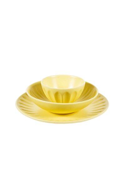 Siena Sarı 18 Parça Yemek Takımı