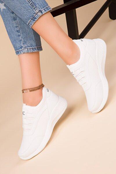 Kadın Beyaz Sneaker 15226