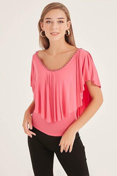 Kadın Fuşya Bluz 20250118096