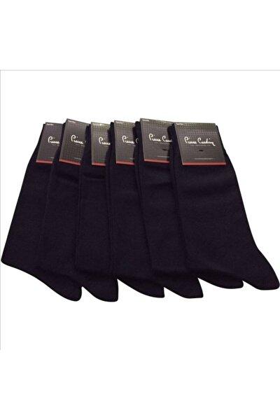 Erkek Siyah Pamuk Dört Mevsim Çorap  12'iı Paket