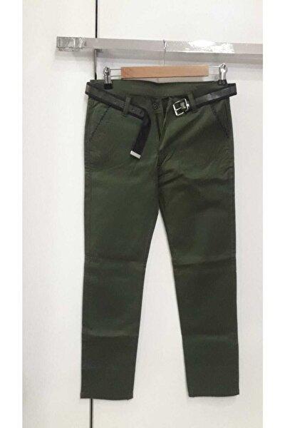 Erkek Çocuk Yeşil Keten Pantolon
