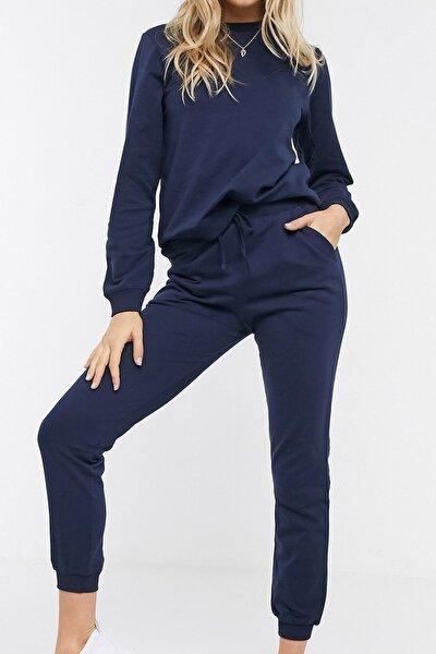 Kadın Lacivert Pamuklu Pijama Takımı