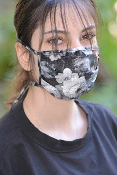 Kadın Koruyucu Yıkanabilir Kumaş Maske