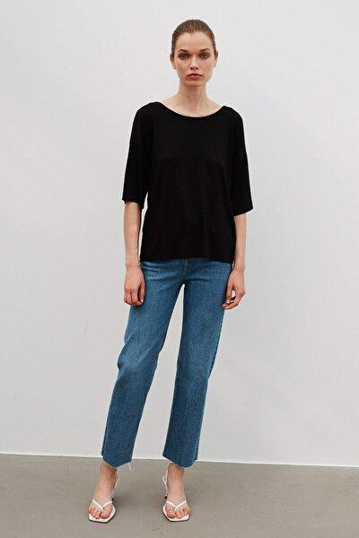 Kadın Siyah Basic T-Shirt