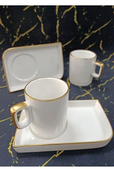 Porselen Gold 2'li Kahve Fincan Seti