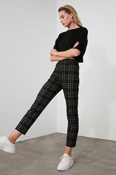 Siyah Ekose Pantolon TWOAW21PL0273