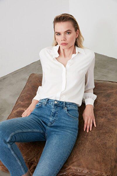 Beyaz Basic Gömlek TWOAW20GO0116