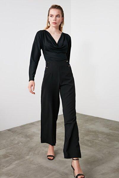 Siyah Bol Paça Pantolon TWOSS20PL0294