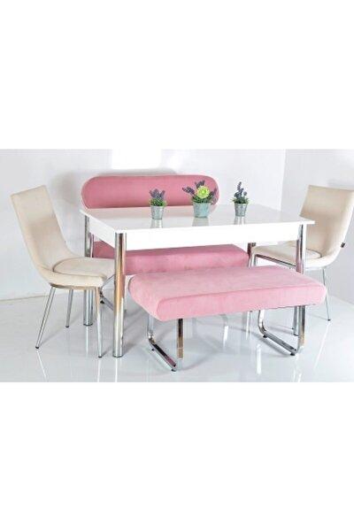 6 Kişilik Masa Sandalye Takımı Banklı Mutfak Masası Bank Takımı Masa Takımı Mutfak Masası Yemek Masa
