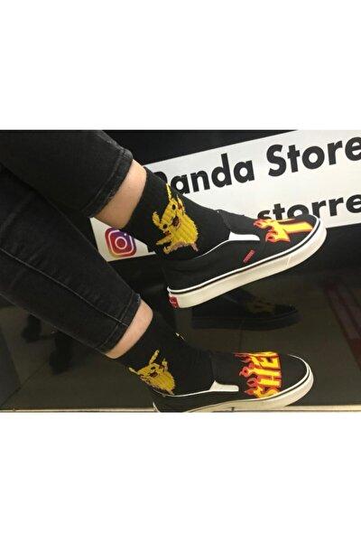 Unisex Siyah K-pop Thrasher Ayakkabı