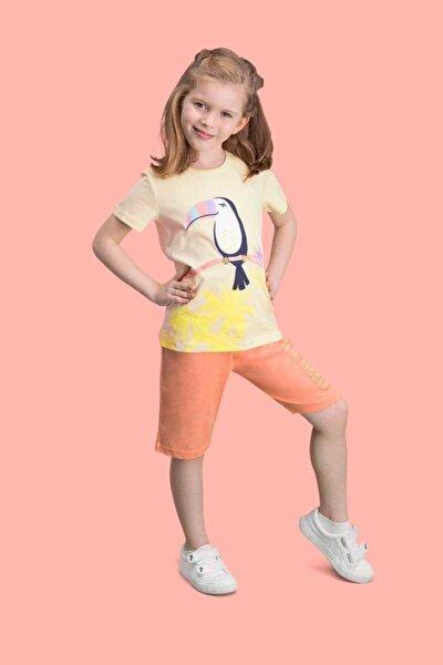 Kız Çocuk Bermuda Takım Kısa Kol
