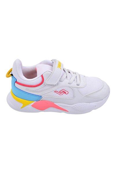 Unisex Çocuk Beyaz Günlük Cırtlı Spor Ayakkabı 24931