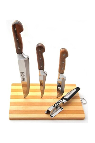3'Lü Bıçak Seti ve Bileyici