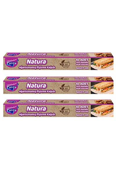 Natura 3 Adet Ağartılmamış Organik Hazır Kesilmiş Pişirme Kağıdı 10'lu
