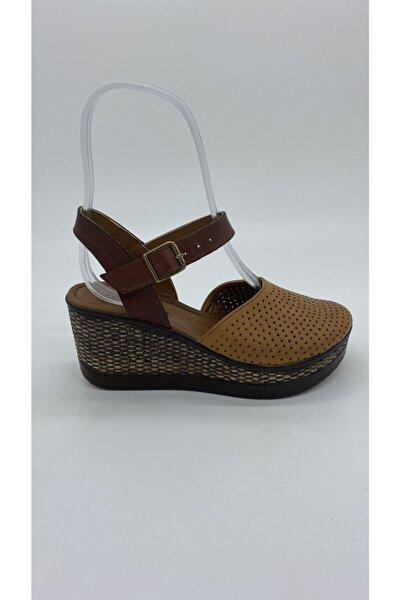 Kadın Taba Deri Sandalet Z.2207