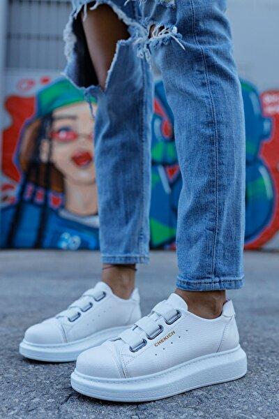 Kadın Beyaz Bantlı Sneaker Ch253