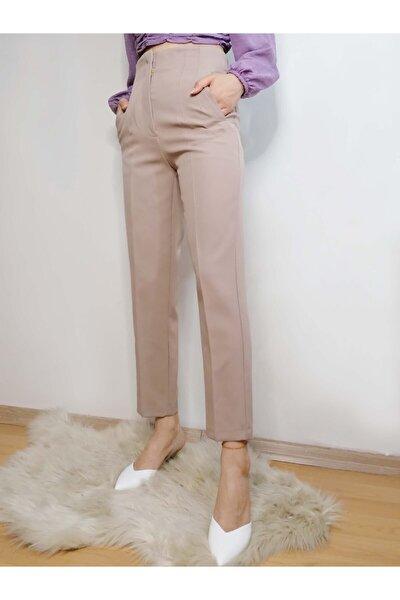 Kadın Vizon Pens Detay Pantolon