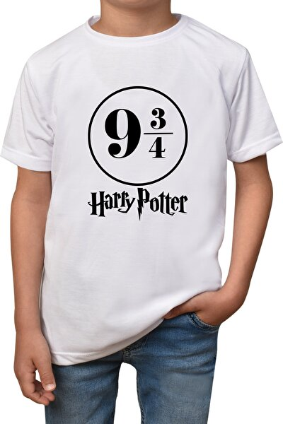 Unisex Çocuk Beyaz Harry Potter T-shirt T-147