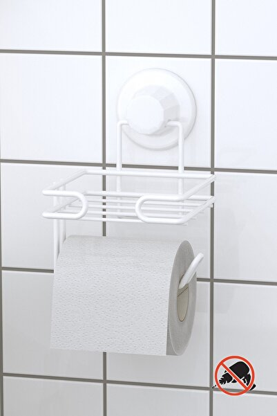Beyaz Vakumlu Yedekli Tuvalet Kağıtlık Dm275