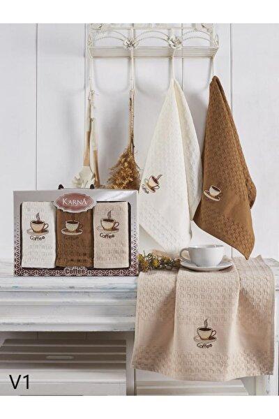Salva Coffee 3'lü Mutfak Havlusu/ Kurulama Bezi Seti 45x65 Cm
