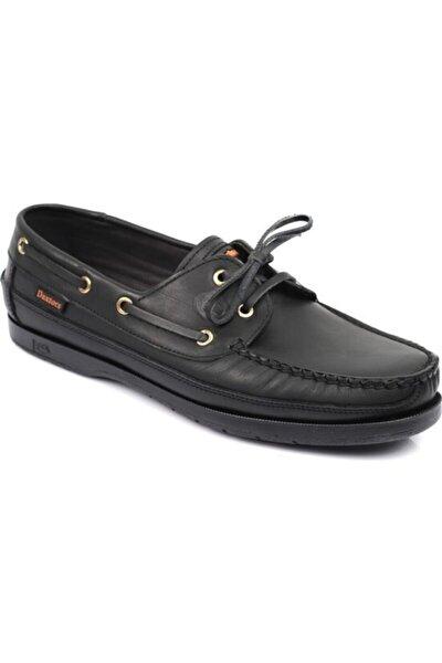 Hakiki Deri Erkek Siyah Casual Ayakkabı DXSWMN8150007