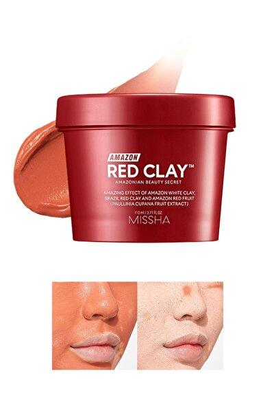 Yağlı Ve Gözenekli Ciltler İçin 110 ml Amazon Red Clay Pore Mask 8809643534987 Kil Maskesi