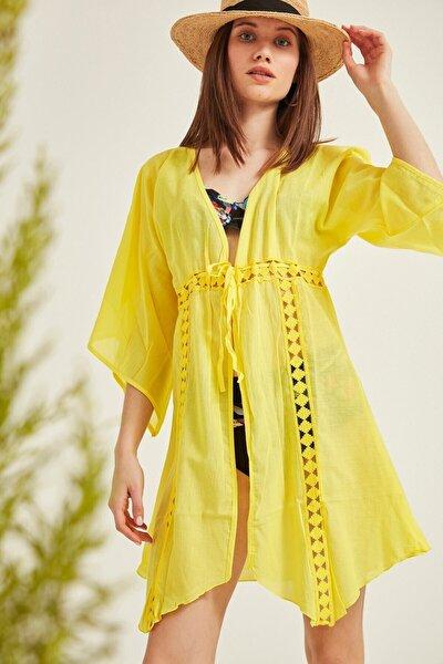 Kadın Pareo Plaj Elbisesi 2005 Sarı Tcty20sspro005