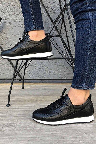 Hakiki Deri Günlük Siyah Erkek Ayakkabı Madm65space3