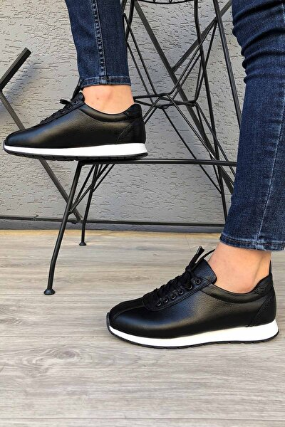 Hakiki Deri Günlük Siyah Erkek Ayakkabı Madm65corsat