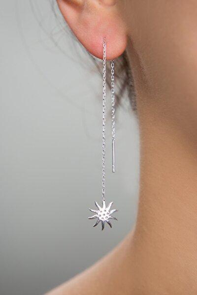 Kadın Güneş Model Sallantılı 925 Ayar Gümüş Küpe