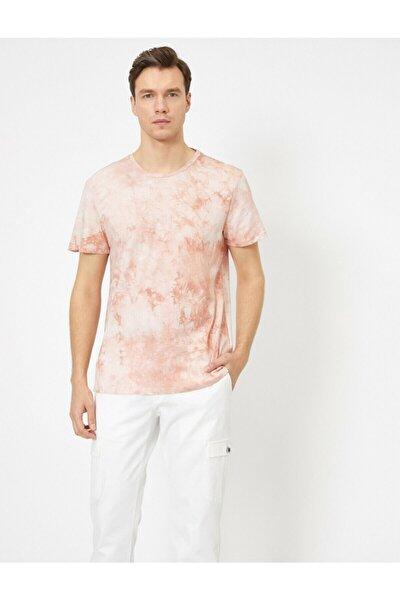 Erkek Pembe Desenli T-Shirt