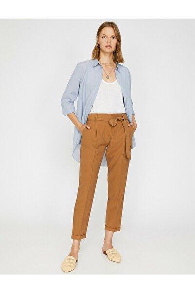 Kadın Kahverengi Pantolon 9YAK42659OW