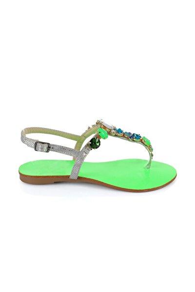 Rio Green Taşlı Sandalet
