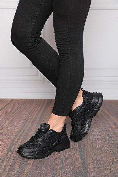 Kadın Siyah Sneaker Spor Ayakkabı