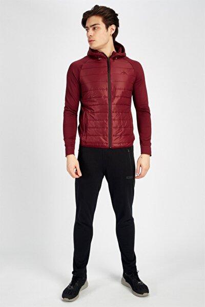 Erkek Bordo Sportswear Ceket