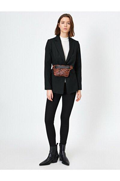 Kadın Siyah Dar Kesim Pantolon