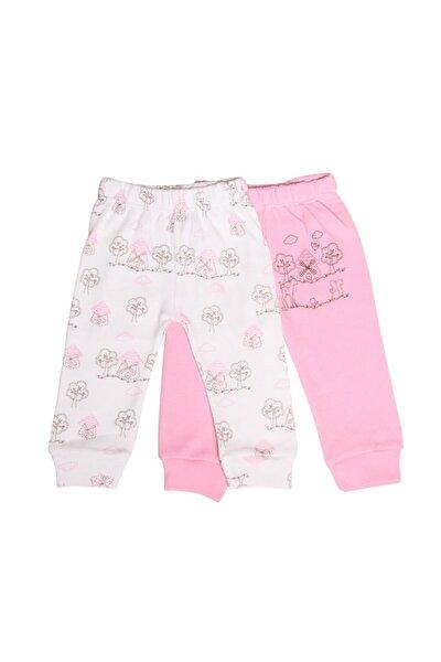 Baby Kız Koyu Pembe & Beyaz 2'li Alt Lgb-4864-dgr