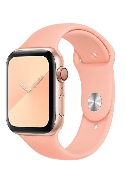 Turuncu Apple Watch Seri 2,3,4,5 Uyumlu 40 mm Silikon Kordon Kayış