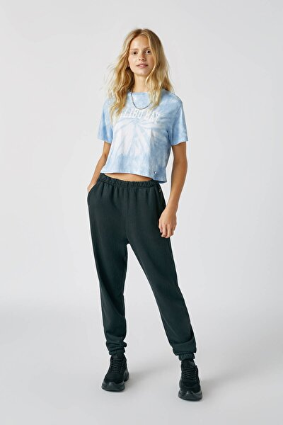 Kadın Soluk Siyah Basic Jogging Pantolonu 09678310