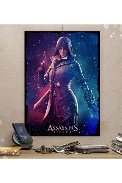 Assassins Creed Gamer Tasarım 35x50cm Hediyelik Dekoratif 8mm Ahşap Tablo