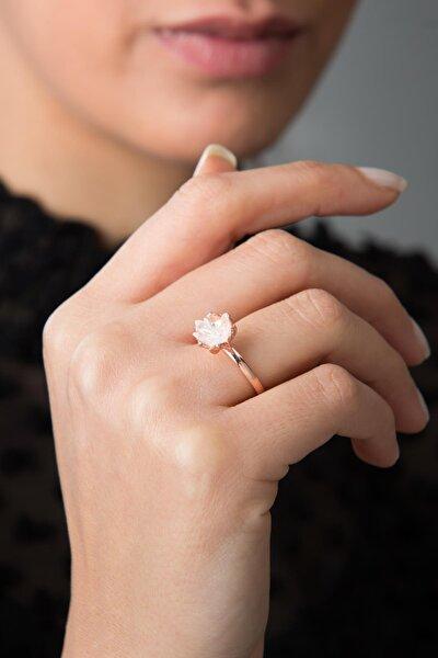 Kadın Ayarlanabilir Beyaz Lotus Çiçeği Model 925 Ayar Gümüş Yüzük