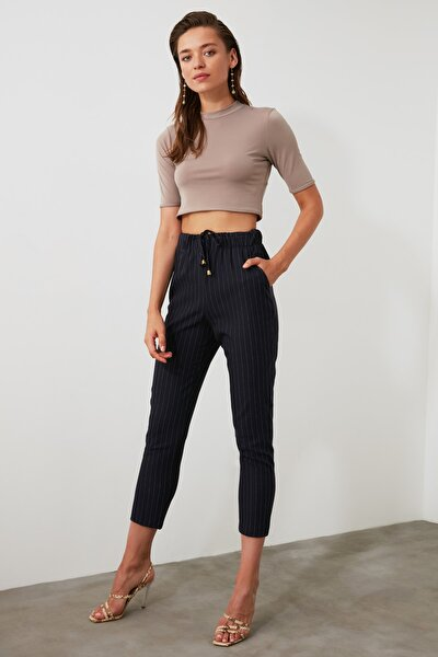 Lacivert Çizgili Pantolon TWOAW21PL0079