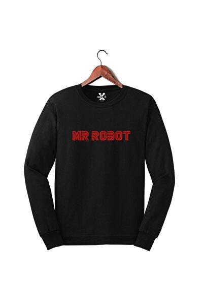 Mr Robot Dizisi Baskılı Uzun Kollu Üst - Sweat