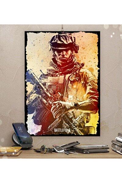 Battlefield Gamer Tasarım 35x50cm Hediyelik Dekoratif 8mm Ahşap Tablo